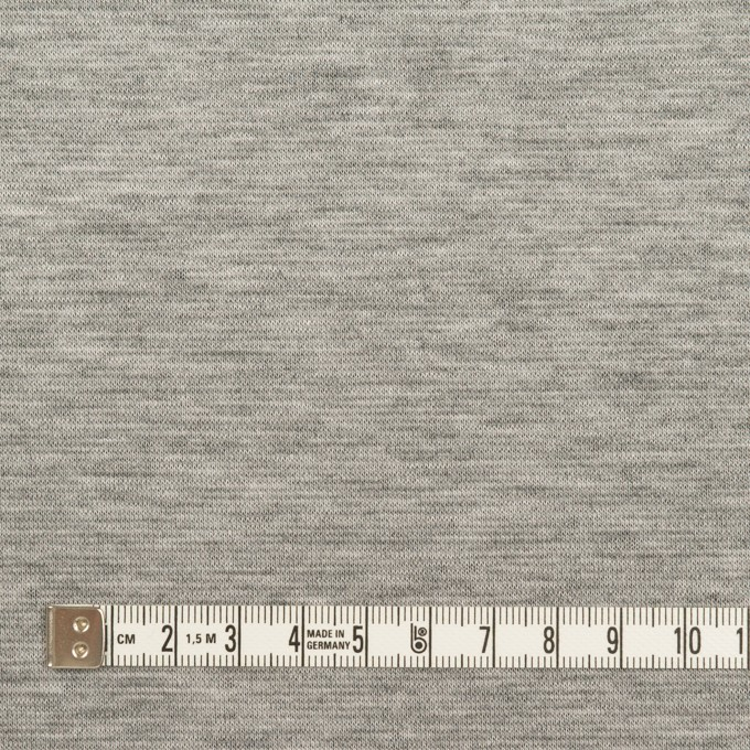 テンセル&コットン×無地(シルバーグレー&チャコール)×Wニット イメージ4