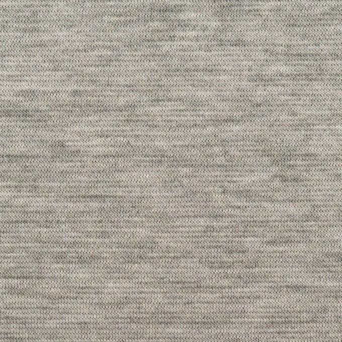 テンセル&コットン×無地(シルバーグレー&チャコール)×Wニット イメージ1