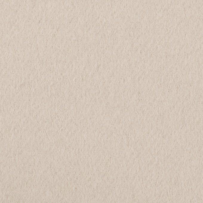 ウール×無地(オイスター)×ソフトメルトン イメージ1