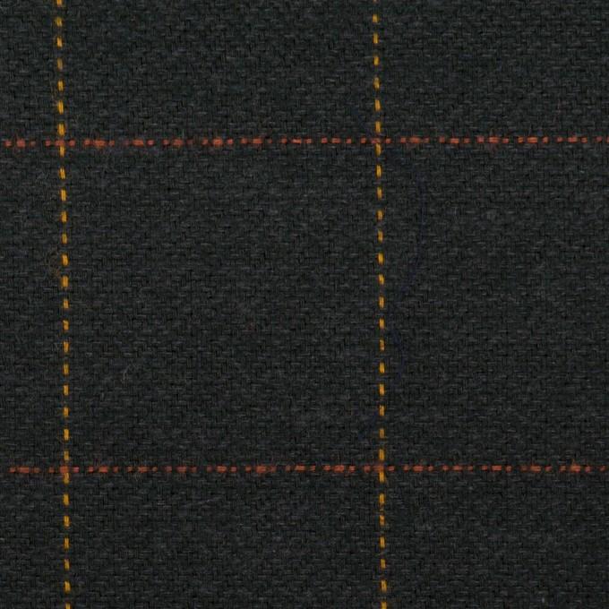 コットン×チェック(チャコール)×ヘリンボーン イメージ1