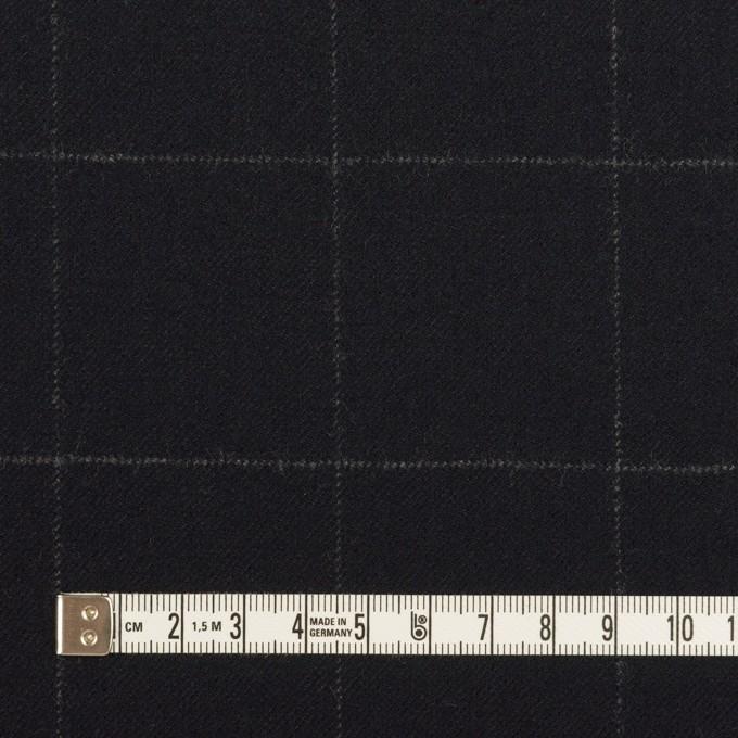ウール×チェック(ダークネイビー)×サージ イメージ4