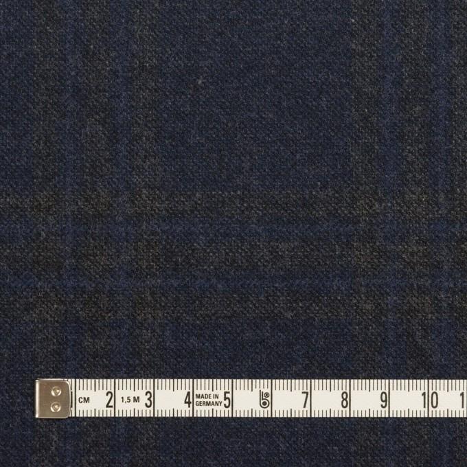 ウール×チェック(プルシアンブルー&チャコールグレー)×ツイード イメージ4