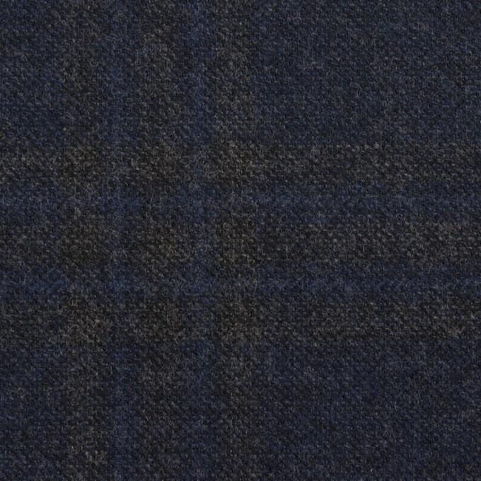 ウール×チェック(プルシアンブルー&チャコールグレー)×ツイード イメージ1