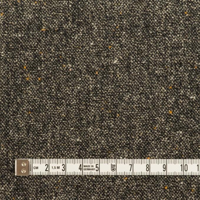 ウール&ナイロン混×ミックス(チャコール)×ツイードストレッチ_全3色 イメージ4