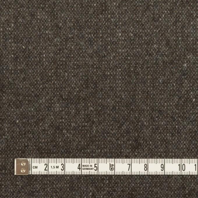 ウール&ポリエステル混×ミックス(アッシュブラウン)×ツイードストレッチ イメージ4