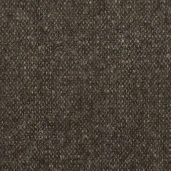 ウール&ポリエステル混×ミックス(アッシュブラウン)×ツイードストレッチ