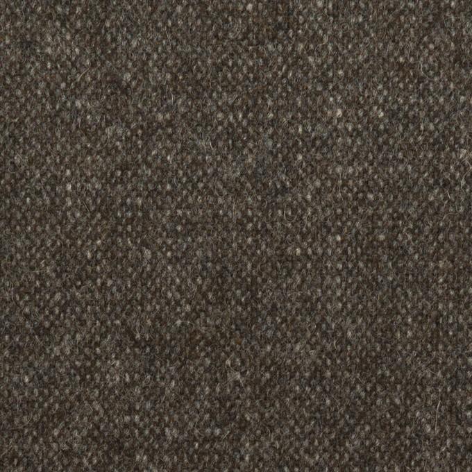 ウール&ポリエステル混×ミックス(アッシュブラウン)×ツイードストレッチ イメージ1