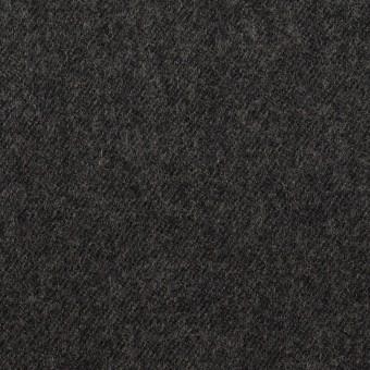 ウール×無地(チャコールグレー)×サージ サムネイル1