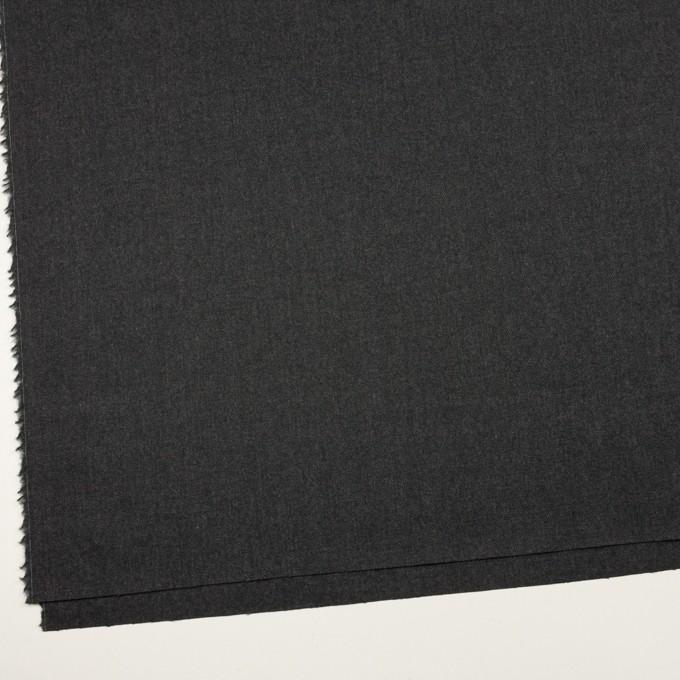 ウール&ポリウレタン×無地(チャコールグレー)×サージストレッチ イメージ2