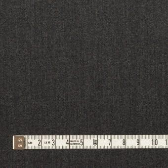 ウール&ポリウレタン×無地(チャコールグレー)×サージストレッチ サムネイル4