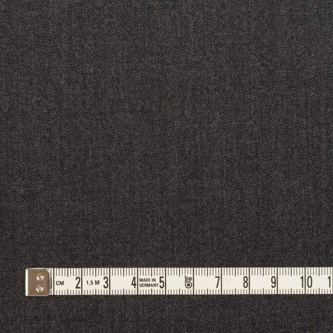 ウール&ポリウレタン×無地(チャコールグレー)×サージストレッチ イメージ4