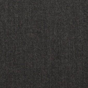 ウール&ポリウレタン×無地(チャコールグレー)×サージストレッチ