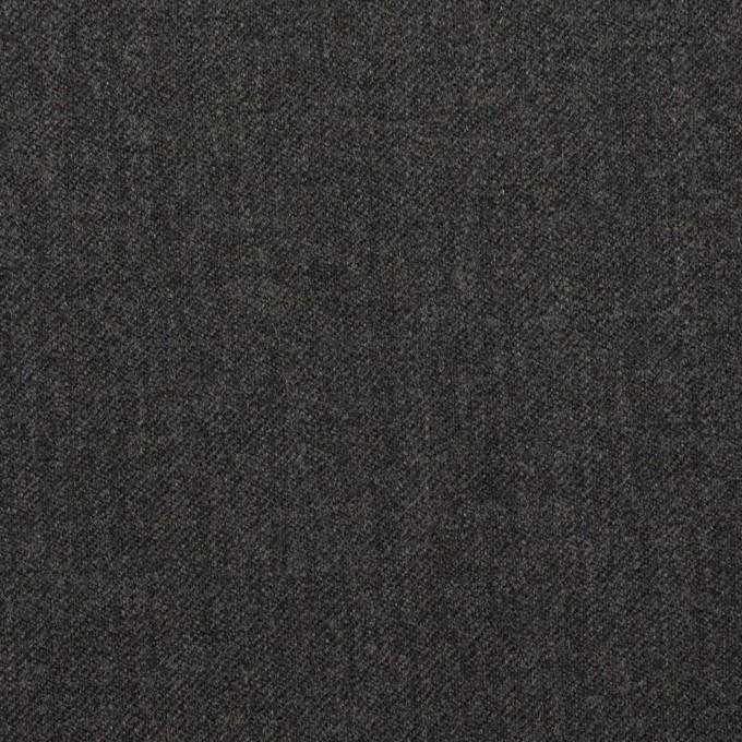 ウール&ポリウレタン×無地(チャコールグレー)×サージストレッチ イメージ1