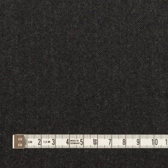 ウール×無地(チャコールグレー)×サージ サムネイル4