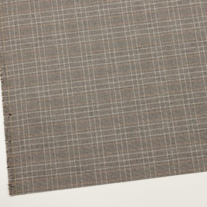 ポリエステル&レーヨン混×チェック(ライトベージュ)×サージストレッチ_全2色 イメージ2