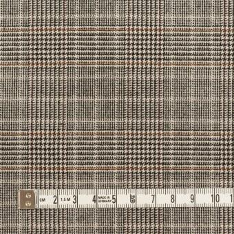 ポリエステル&レーヨン混×チェック(ライトベージュ)×サージストレッチ_全2色 サムネイル4