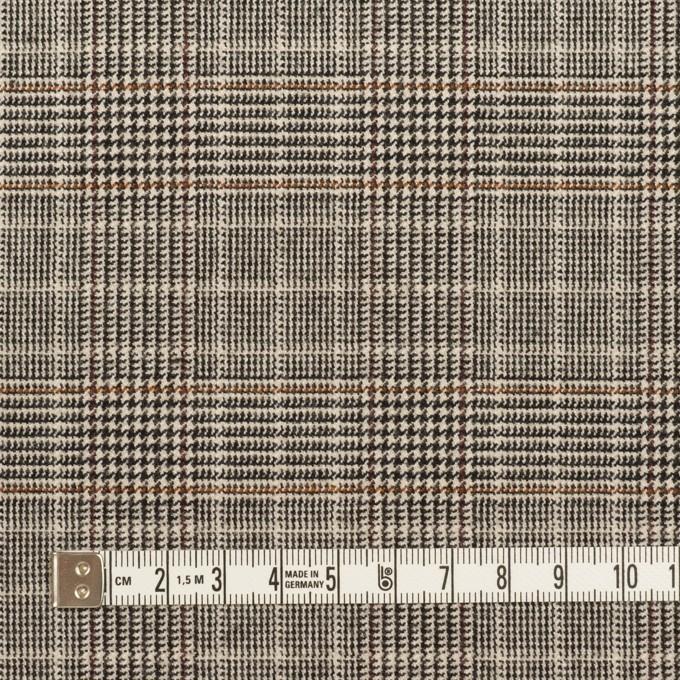 ポリエステル&レーヨン混×チェック(ライトベージュ)×サージストレッチ_全2色 イメージ4