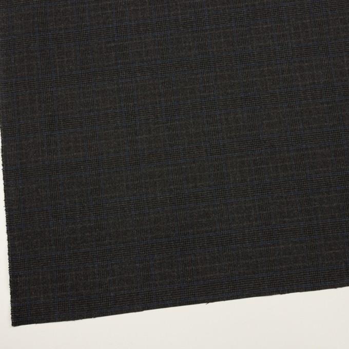 ポリエステル&レーヨン混×チェック(チャコール)×サージストレッチ_全2色 イメージ2