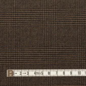 ポリエステル&レーヨン混×チェック(ブラウン)×サージストレッチ サムネイル4