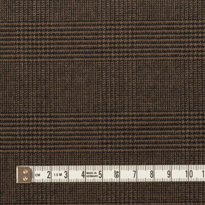 ポリエステル&レーヨン混×チェック(ブラウン)×サージストレッチ イメージ4
