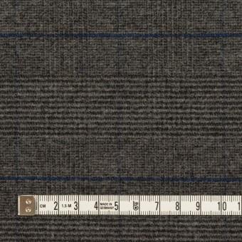 ポリエステル&レーヨン混×チェック(チャコールグレー)×サージストレッチ サムネイル4