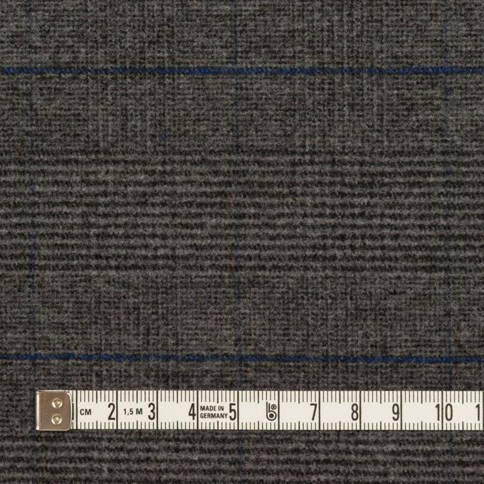 ポリエステル&レーヨン混×チェック(チャコールグレー)×サージストレッチ イメージ4