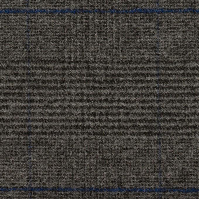 ポリエステル&レーヨン混×チェック(チャコールグレー)×サージストレッチ イメージ1