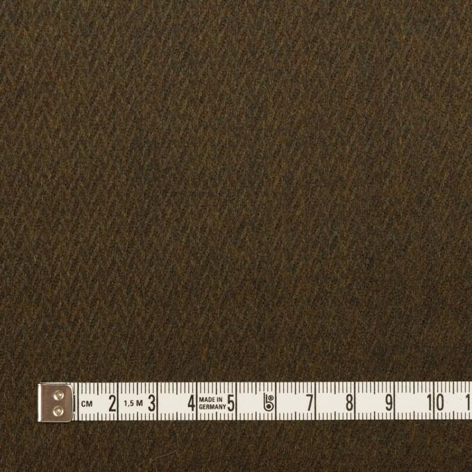 ウール×無地(オリーブブラウン)×ヘリンボーン_全2色 イメージ4