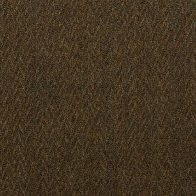 ウール×無地(オリーブブラウン)×ヘリンボーン_全2色 イメージ1