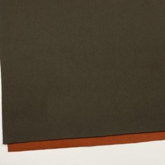 ウール&ナイロン×無地(カーキグリーン&オレンジブリック)×Wフェイスツイード_全2色 サムネイル2