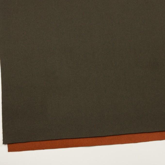 ウール&ナイロン×無地(カーキグリーン&オレンジブリック)×Wフェイスツイード_全2色 イメージ2