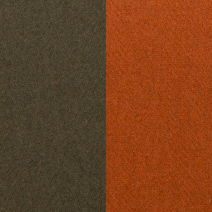ウール&ナイロン×無地(カーキグリーン&オレンジブリック)×Wフェイスツイード_全2色 イメージ1