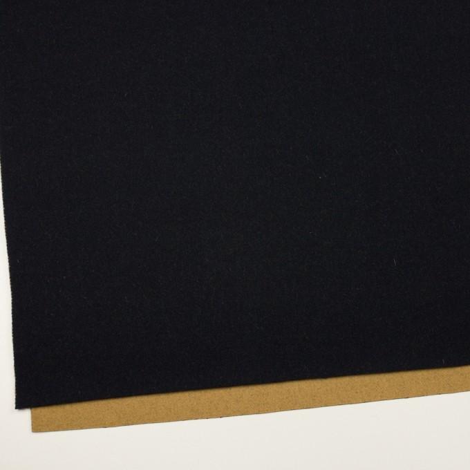 ウール&ナイロン×無地(ブラック&オーカー)×Wフェイスツイード_全2色 イメージ2
