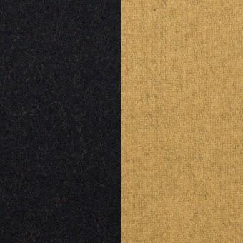 ウール&ナイロン×無地(ブラック&オーカー)×Wフェイスツイード_全2色 サムネイル1