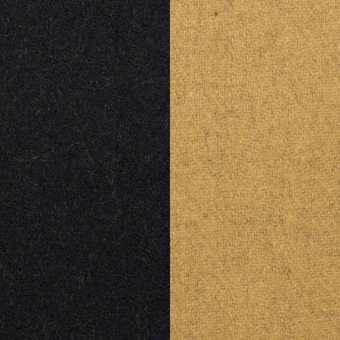 ウール&ナイロン×無地(ブラック&オーカー)×Wフェイスツイード_全2色 イメージ1