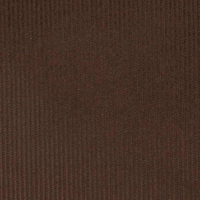 コットン×無地(チョコレート)×中細コーデュロイ イメージ1