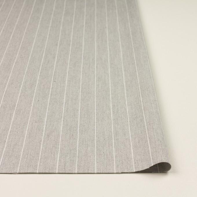 コットン×ストライプ(ライトグレー)×ビエラ_全2色 イメージ3
