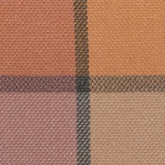 コットン&レーヨン×チェック(テラコッタ)×斜子織_全2色