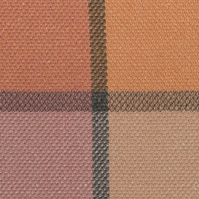 コットン&レーヨン×チェック(テラコッタ)×斜子織_全2色 イメージ1