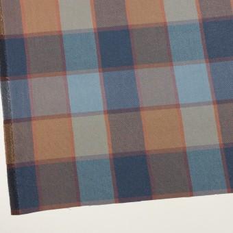 コットン&レーヨン×チェック(ブルーグレー)×斜子織_全2色 サムネイル2