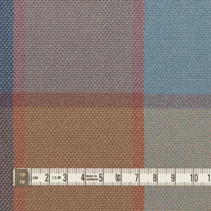 コットン&レーヨン×チェック(ブルーグレー)×斜子織_全2色 イメージ4