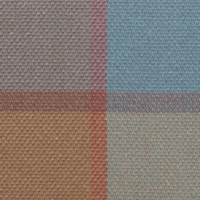 コットン&レーヨン×チェック(ブルーグレー)×斜子織_全2色 イメージ1