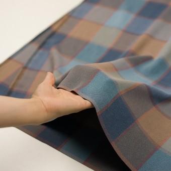 コットン&レーヨン×チェック(ブルーグレー)×斜子織_全2色 サムネイル5
