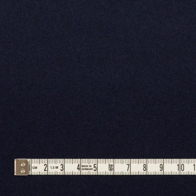 ウール×無地(ネイビー)×フラノ(フランネル) イメージ4