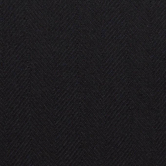 ウール×無地(ダークネイビー)×ヘリンボーン イメージ1