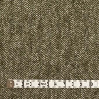 ウール&コットン混×ミックス(カーキグリーン)×ガーゼ サムネイル4