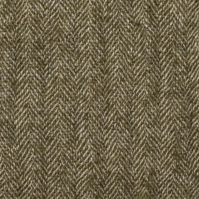ウール&コットン混×ミックス(カーキグリーン)×ガーゼ イメージ1