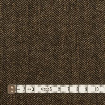 ウール&レーヨン混×ミックス(ダークブラウン)×ヘリンボーン・ストレッチ サムネイル4