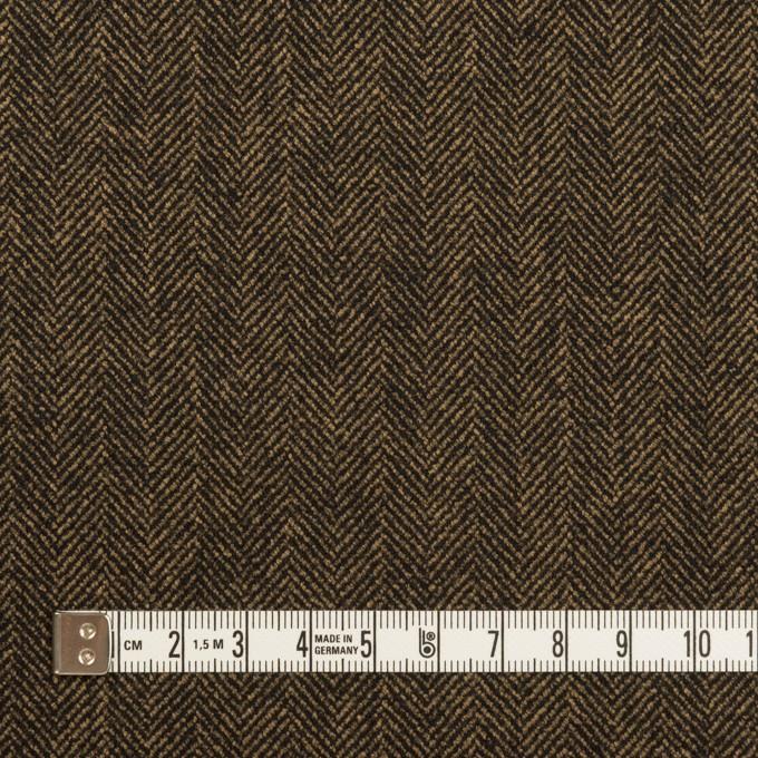 ウール&レーヨン混×ミックス(ダークブラウン)×ヘリンボーン・ストレッチ イメージ4