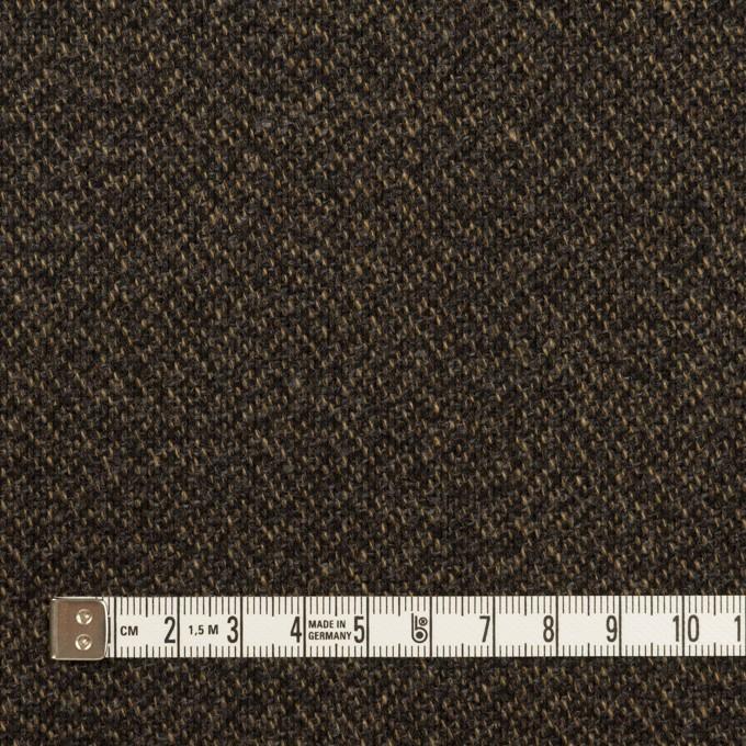 ウール&ポリウレタン×ミックス(ダークブラウン)×ツイード・ストレッチ イメージ4